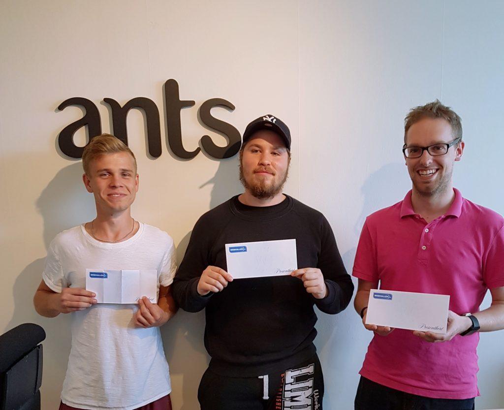 André, Leif och Jim under prisutdelningen.